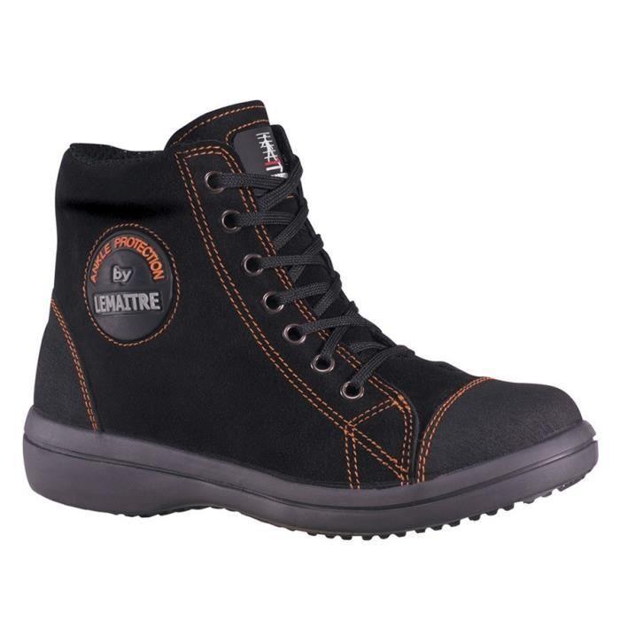 LEMAÎTRE PARABOLINE Chaussures de sécurité haute Vitamine S3 SRC noir