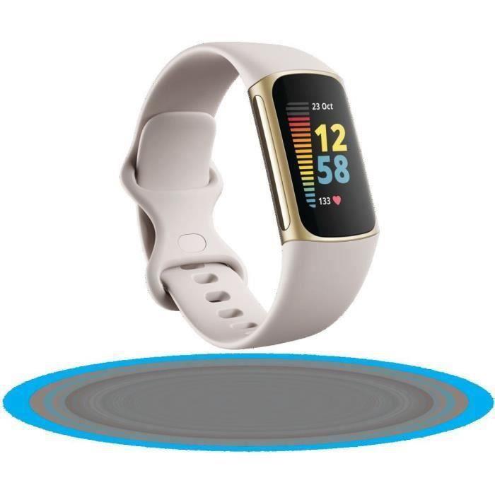 FITBIT Charge 5 - Bracelet d'activité - 6 mois d'abonnement à Premium - Blanc