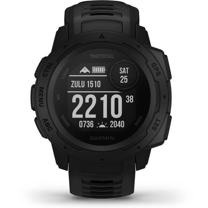 Garmin Instinct Tactical Edition - Montre GPS robuste avec fonctions tactiques - Noire