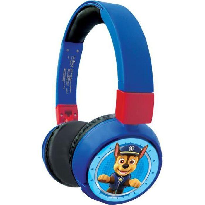 PAT' PATROUILLE Casque 2-en-1 Bluetooth® et filaire confortable et pliable pour enfants avec limitation de son - LEXIBOOK