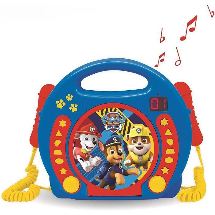 PAT' PATROUILLE Lecteur CD karaoké enfant avec 2 microphones LEXIBOOK