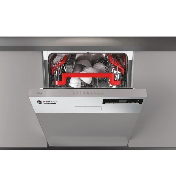 Lave-vaisselle encastrable connecté HOOVER HDSN2D620PX - 16 couverts - Largeur 60 cm - Classe A +++ - 43 dB - Bandeau inox