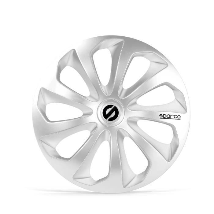 SPARCO 4 Enjoliveurs de roues - Sicilia - SPC1470SV - 14- - Gris