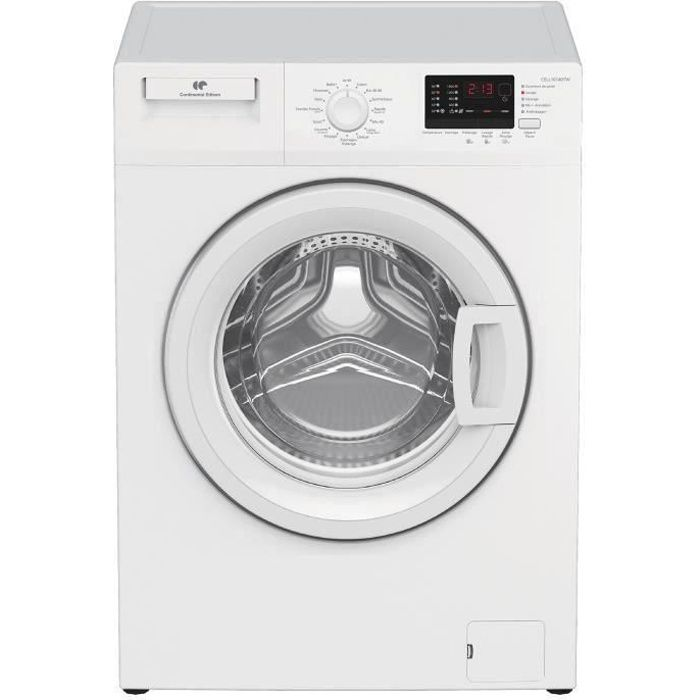 Lave-linge hublot CONTINENTAL EDISON CELL10140TW - 10kg - Moteur induction - Largeur 60 cm - 1400 tours/min - blanc