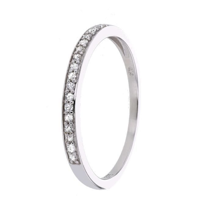 Or blanc 375 / 1000 - Diamants 0,09 ct - Référence de base T.54ALLIANCE - SOLITAIRE