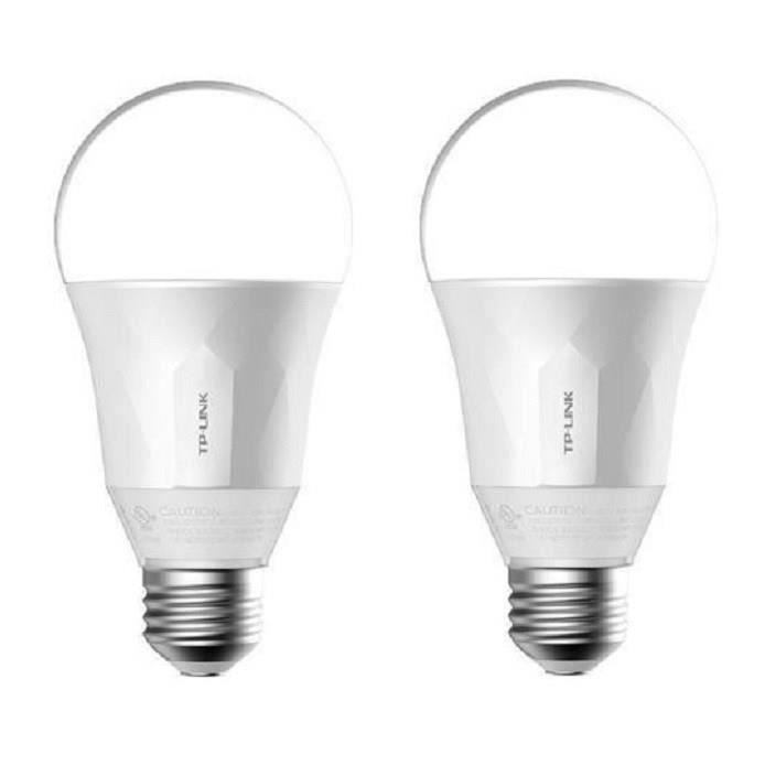 TP-LINK Lot de 2 Ampoules LED LB100 connectées Wi-Fi E27 50 W avec variation de l'intensité lumière blanche