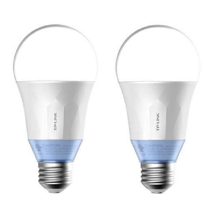 TP-LINK Lot de 2 Ampoules LED LB120 connectées Wi-Fi E27 60 W avec lumière blanche personnalisable
