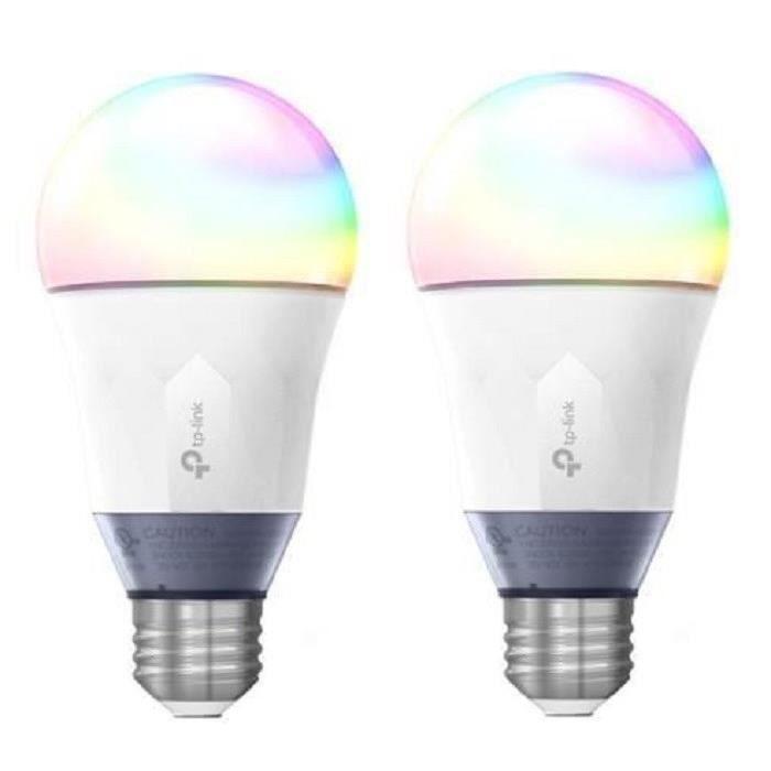 TP-LINK Lot de 2 Ampoules LED LB130 connectées Wi-Fi E27 avec changement de couleur, de blanc et de luminosité