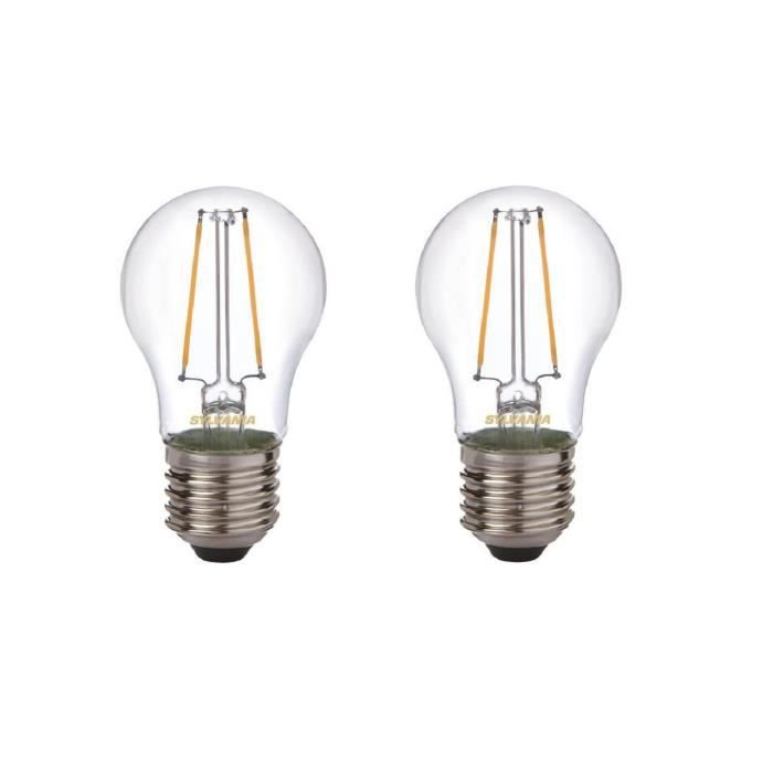 SYLVANIA Lot de 2 ampoules LED à filament Toledo Retro Ball E27 2 W équivalent à 25 W