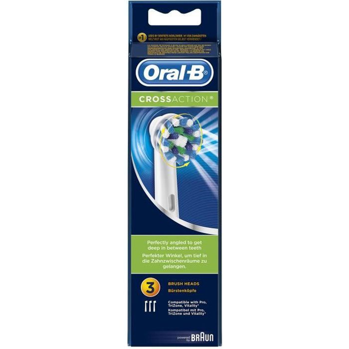 Oral-B Brossettes de rechange x 3 CrossAction