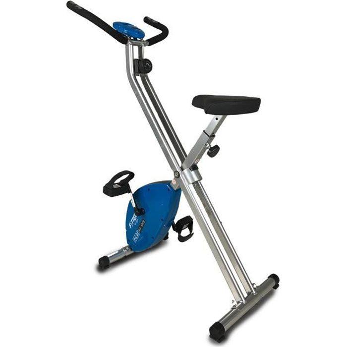 FYTTER Vélo statique ultra-pliable RA-0XB avec 3 kg de roue d'inertie et 6 fonctions. Écran LCD avec contrôle du rythme cardiaque.