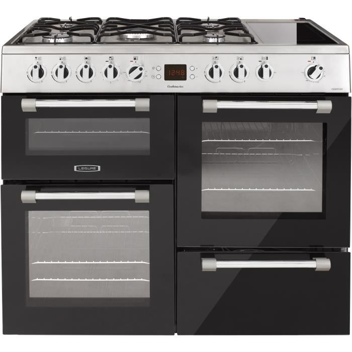 LEISURE CK100F320XG - Piano de cuisson table gaz-5 foyers-5,8kWh-Fours électrique:3 cavités-58-60L-A-Inox