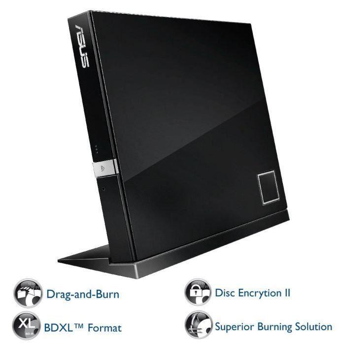 Asus Lecteur de disque Sbw 06D2x U Bdxl 6x2x6x Usb 2.0 Externe Noir