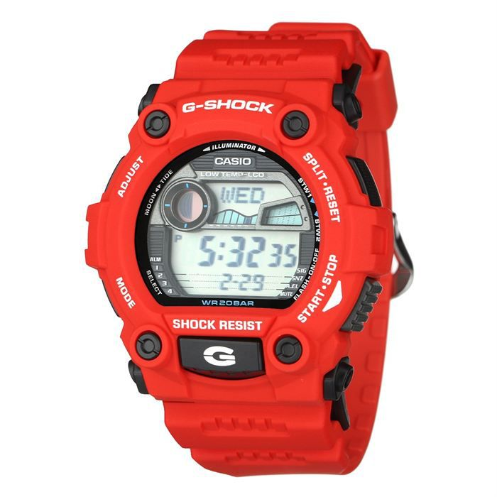casio montre multifonction g shock rouge noir achat vente montre cdiscount. Black Bedroom Furniture Sets. Home Design Ideas