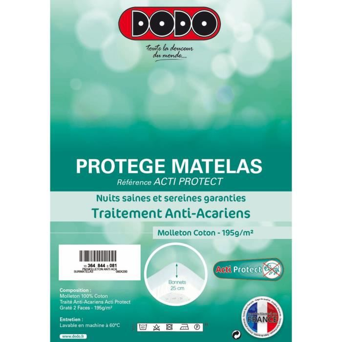 dodo prot ge matelas actiprotect 80x200cm achat vente. Black Bedroom Furniture Sets. Home Design Ideas