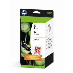 CARTOUCHE IMPRIMANTE HP 62 Pack de 2 cartouches d'encre Noire et Trois
