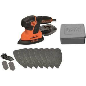 Black /& Decker ka2500k Compact-Mouse Triangle Meuleuse 120 W avec ACCESSOIRES /& VALISE