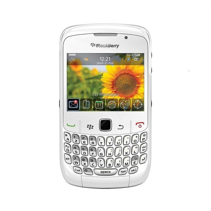 telephonie telephone mobile blackberry curve  blanc f blackberrybc