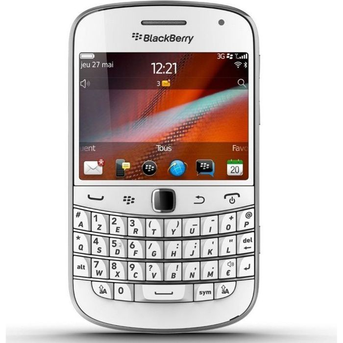 telephonie telephone mobile blackberry bold  blanc f blackberrybc