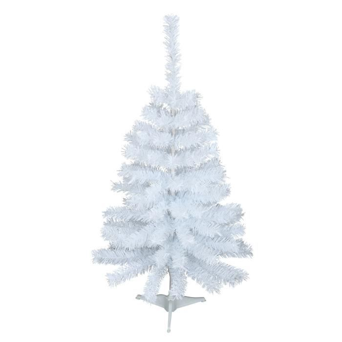 sapin de no l artificiel canada 90 branches hauteur 90 cm blanc achat vente sapin arbre de. Black Bedroom Furniture Sets. Home Design Ideas