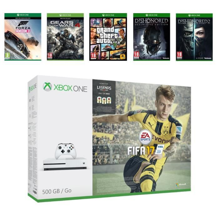 pack xbox one s 500go fifa 17 gears of war 4 forza horizon 3 dishonored 2 limited. Black Bedroom Furniture Sets. Home Design Ideas
