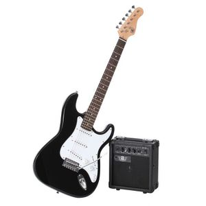 GUITARE LEGEND Pack Guitare Type Stratocaster Noir