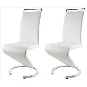 CHAISE SIDNEY Lot de 2 chaises de salle à manger en méral