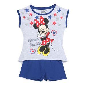 PYJAMA MINNIE Pyjama Bleu Enfant Fille Sérigraphie Glitte