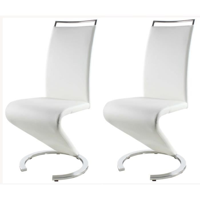 sidney lot de 2 chaises de salle manger blanche achat. Black Bedroom Furniture Sets. Home Design Ideas