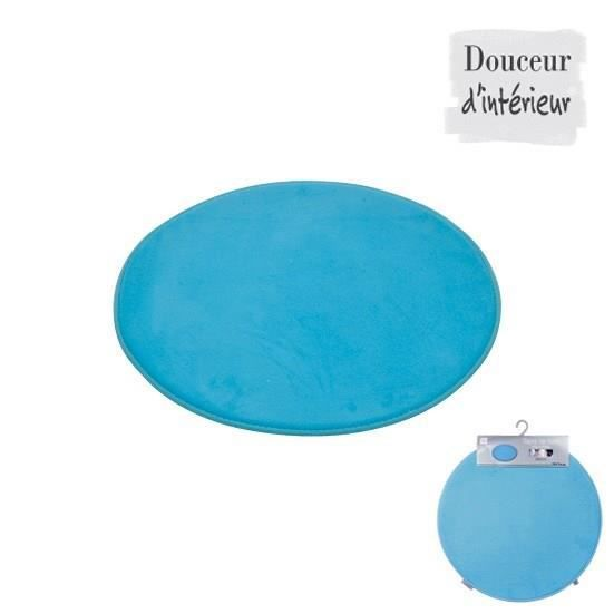 tapis de bain rond bleu oc an diam tre 60cm achat vente tapis de bain synth tique cdiscount. Black Bedroom Furniture Sets. Home Design Ideas