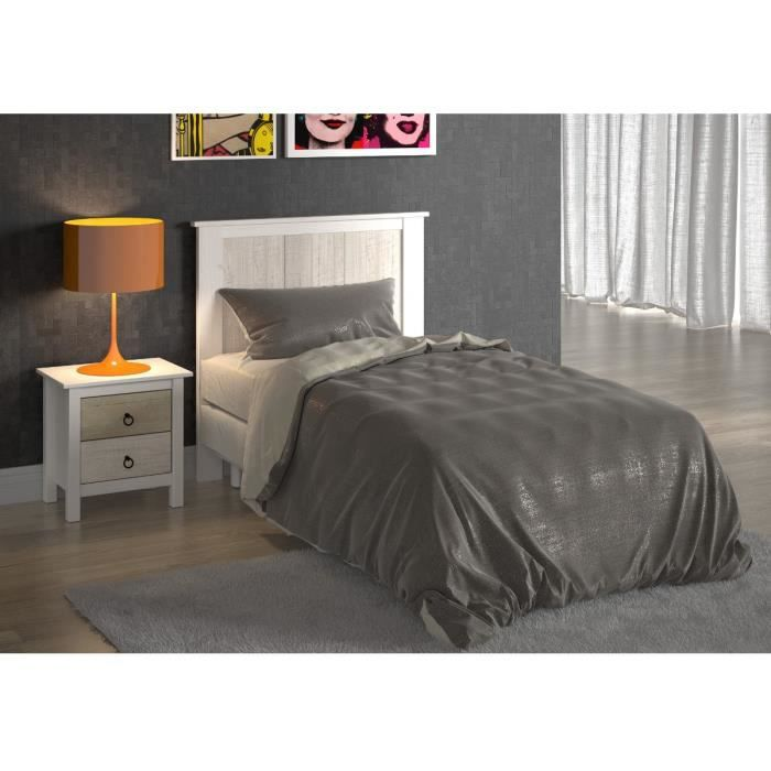 dina t te de lit 90cm blanche blanc patin achat vente. Black Bedroom Furniture Sets. Home Design Ideas