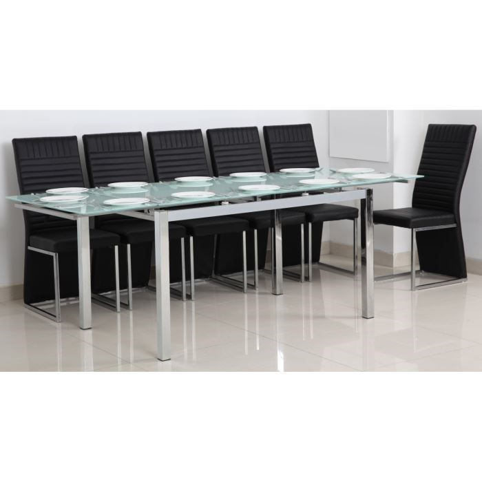 Table verre trempe extensible - Table extensible verre trempe ...