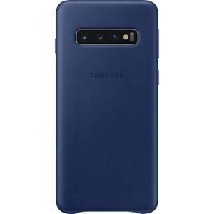 COQUE - BUMPER Samsung Coque en cuir S10 - Bleu marine