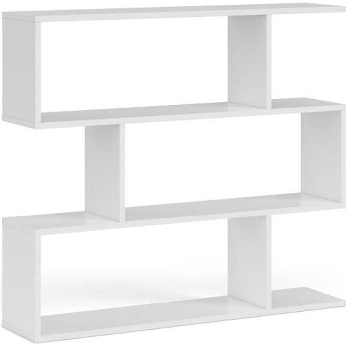 MEUBLE ÉTAGÈRE ATHENA Étagère meuble - Contemporain - Blanc brill