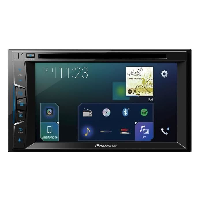 pioneer autoradio vid o 2 din avh z2000bt ecran 6 2 apple carplay dvd cd 4 x 50 w usb ipod. Black Bedroom Furniture Sets. Home Design Ideas