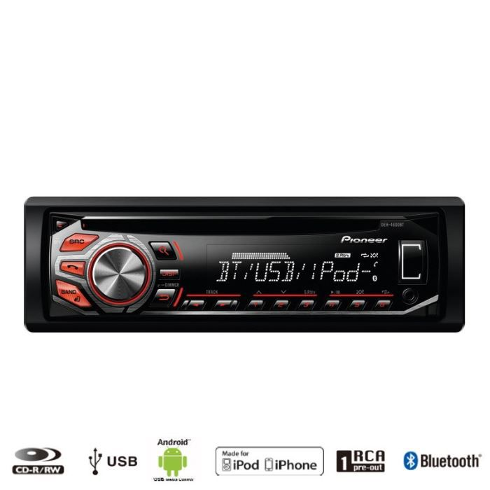 pioneer deh 4500bt autoradio cd usb bluetooth achat. Black Bedroom Furniture Sets. Home Design Ideas