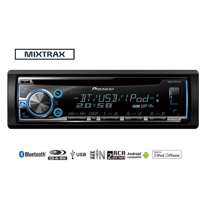 pioneer deh x5700bt autoradio cd bluetooth achat vente autoradio pioneer deh x5700bt cdiscount. Black Bedroom Furniture Sets. Home Design Ideas