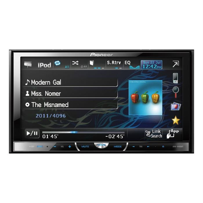 autoradio pioneer avh 4400bt achat vente autoradio. Black Bedroom Furniture Sets. Home Design Ideas