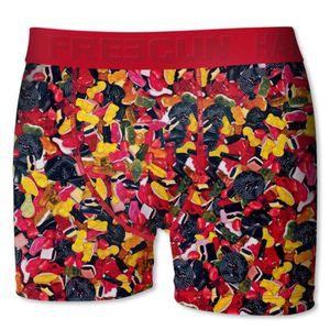 BOXER - SHORTY FREEGUN Boxer Bonbons Haribo Rouge et Multicolore