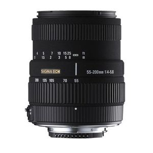 OBJECTIF SIGMA zoom 55-200mm F4-5,6 DC pour Canon