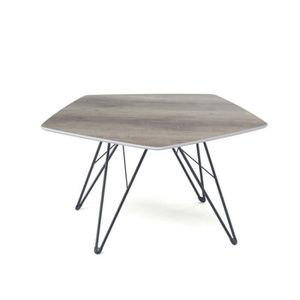 TABLE BASSE TREVISE Table basse hexagonale style scandinave en