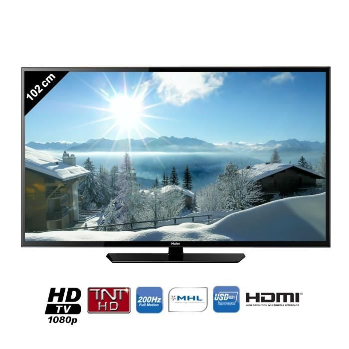 haier le40m600cf tv led full hd 102 cm t l viseur led avis et prix pas cher cdiscount. Black Bedroom Furniture Sets. Home Design Ideas
