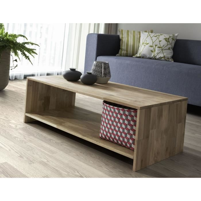 Factory Table Basse 100 Cm Ch Ne Massif Achat Vente Table Basse Factory Table Basse 100 Cm