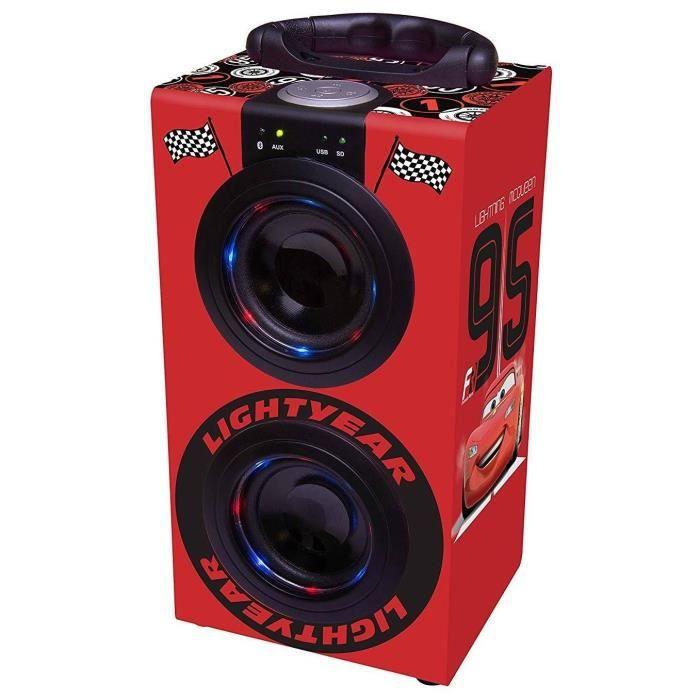 RADIO CD ENFANT LEXIBOOK - Mini Tour de Son Bluetooth® Disney Cars