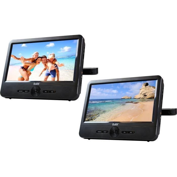 LECTEUR DVD PORTABLE D-JIX PVS 906-70DP Double Lecteur DVD portable 9''