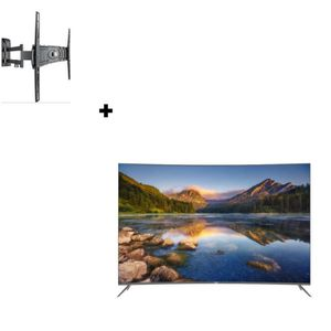 Téléviseur LED HAIER LE55Q6500U TV LED 4K UHD incurvée + MELICONI