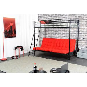 lit mezzanine 3 places achat vente lit mezzanine 3 places pas cher cdiscount. Black Bedroom Furniture Sets. Home Design Ideas