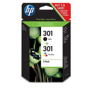 CARTOUCHE IMPRIMANTE HP cartouches 301 B/C/M/Y Pack couleurs (CR340EE)