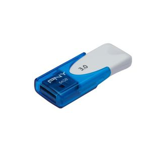CLÉ USB PNY clé USB Attaché 4 USB3.0 64Go bleue