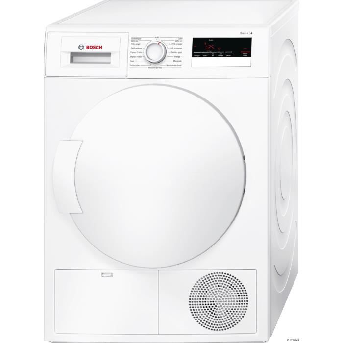 bosch wtn83200ff s che linge 7 kg condensation classe b blanc achat vente s che. Black Bedroom Furniture Sets. Home Design Ideas